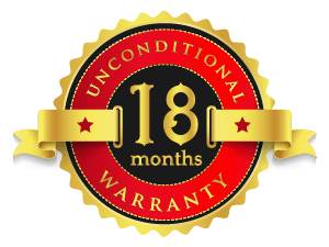 Unconditional 18-Month Warranty